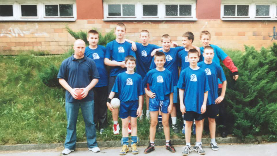 Maciek w Wiśle Puławy, kategoria wiekowa - dzieci, 2005 r.